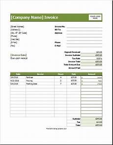 Lawn Care Invoice Lawn Care Invoice Template For Excel Excel Invoice Templates