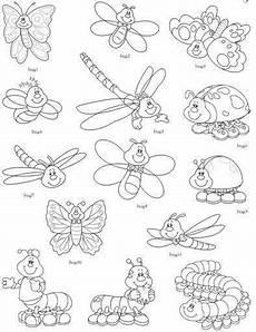insekten malvorlagen englisch kinder zeichnen und ausmalen
