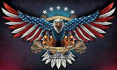 Allen Eagle Designs Eagle With Us Flag And Wings Spread Flyland Designs