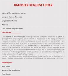 Transfer Letter Sample Writing A Transfer Request Letter With Samples Amp Templates