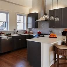 Dark Cabinet Kitchen Design Ideas 24 Grey Kitchen Cabinets Designs Decorating Ideas