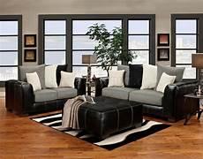 black vinyl grey fabric modern sofa and loveseat set w
