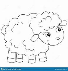 Farm Animal Outlines Coloring Page Outline Of Cartoon Sheep Or Lamb Farm