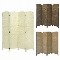solid weave made wicker folding room divider