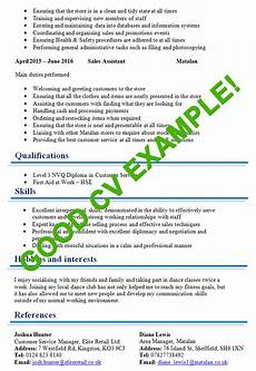 Good Cv Excellent Cv Example Page 2