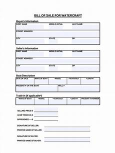 Bill Of Sale Example Free 7 Boat Bill Of Sale Forms In Pdf Ms Word