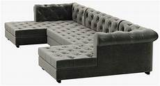 Modern Leather Sofa 3d Image by Rh Modern Modena Chesterfield Leather U Chaise Sectional