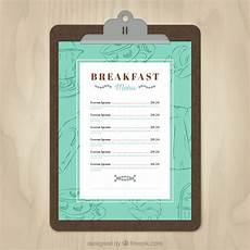 Breakfast Menu Layout 11 Free Sample Breakfast Menu Templates Printable Samples