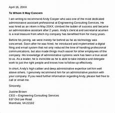 Letter Of Recommendation Administrative Assistant Amp Pinterest In Action Reference Letter Administrative