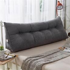 large upholstered headboard reading pillow back bolster