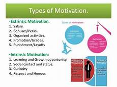 Types Of Motivation In The Workplace Employee Motivation