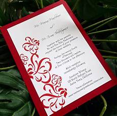 White On White Wedding Invitations Red And White Wedding Invitation Modern Wedding Invitations
