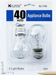 40w Refrigerator Light Bulb 2 Pk Appliance Light Bulb Refrigerator Freezer Oven