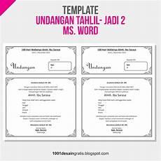 1001 desain gratis download template undangan tahlil