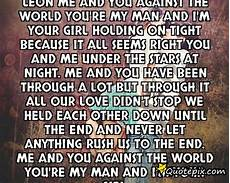 you and me against the world quotes quotesgram