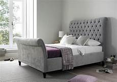 oxford upholstered sleigh bed in 2019 velvet bed frame