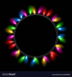 Christmas Black Light Drama Christmas Lights On Black Background Royalty Free Vector