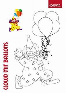 ausmalbild clown mit luftballons kinder ausmalbilder