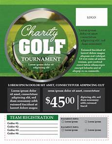 Golf Outing Flyers Charity Golf Tournament Flyer Template Adobe Illustrator