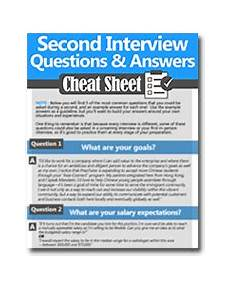 2nd Interview Tips How To Ace A Second Interview Questions Amp Example Answers