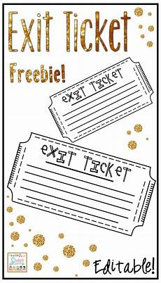 Ticket Out The Door Printable Exit Tickets Tickets Out The Door Free And Editable