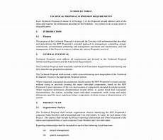 Technical Offer Sample 16 Technical Proposal Examples In Pdf Ms Word Pages