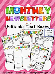 Monthly Newsletter Templates End Of The Year Party Favor Ideas