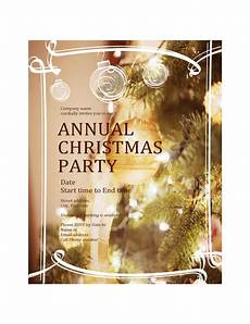 Annual Holiday Party Invitation Template Christmas Party Invitation For Business Event