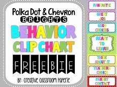 Chevron Behavior Clip Chart Freebie Polka Dot Amp Chevron Behavior Clip Chart Behavior