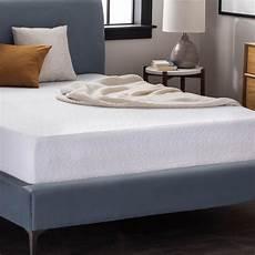lucid 10 in king dual layer gel memory foam mattress