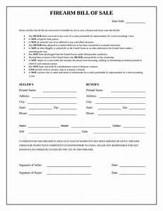 Bill Of Sale Az 2020 Firearm Bill Of Sale Form Fillable Printable Pdf