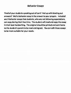 Essays To Copy Behavior Essay For Students To Copy Behavior Essays For