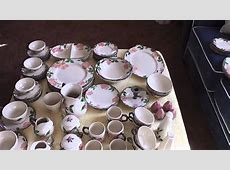 Auctioned 67 Piece Franciscan Desert Rose China Dinnerware