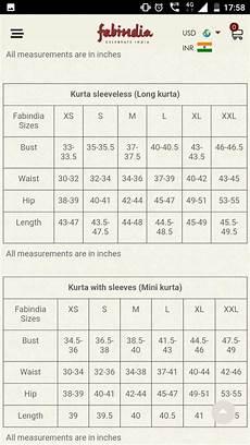Indian Girl Dress Size Chart Fabindia Sizes Measurement Chart Size Chart Chart