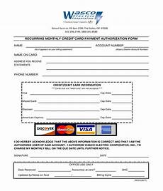 Pre Authorization Credit Card Free 7 Recurring Credit Card Authorization Forms In Pdf