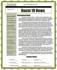 Examples Of Newsletters For Parents From Teachers Classroom Newsletters That Parents Love