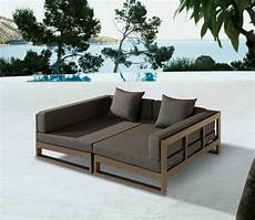 outdoor sofa bed the use of timber in this outdoor