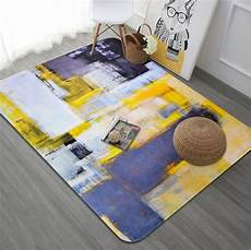 yellow carpet living room nordic abstract bedroom rug