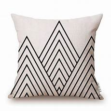 elviros linen cotton blend decorative geometric design