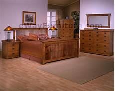 Oak Bedroom Furniture Sets Solid Oak Mission Spindle Bedroom Set