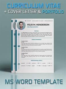 Cv Templates For Microsoft Word Resume Template Cover Letter Portfolio Modern