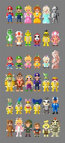 Pixelated Mario Characters Mario Kart 8 Characters 8 Bit By Lustriouscharming On