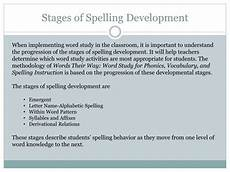Stages Of Spelling Development Chart Ppt Word Study Instruction Using Words Their Way