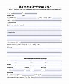 Incident Information Report Free 9 Sample Incident Reporting Forms In Pdf Ms Word
