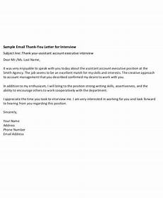Example Thank You Note After Interview Free 7 Sample Thank You Letters After Interview In Pdf