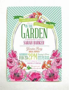 Garden Party Invites Derby Garden Party Bridal Shower Invitations Gardens