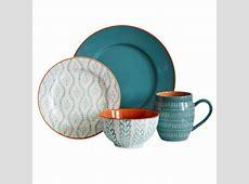 Baum Bros. 16pc Dinnerware Set  Tangiers Turquoise : Target