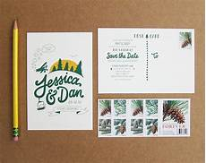 Wedding Save The Date Postcards Scout S Honor Co