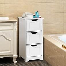 gymax bathroom floor cabinet wooden free standing storage