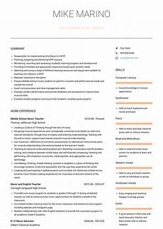 Music Teacher Resume Sample Music Teacher Resume Samples And Templates Visualcv